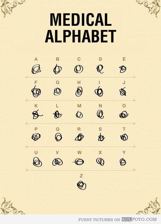 Medical alphabet <3 this!