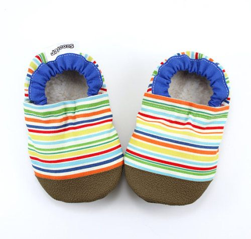 3b0783b74bd38 Buy Now striped baby shoes rainbow booties soft sole rainbow ...