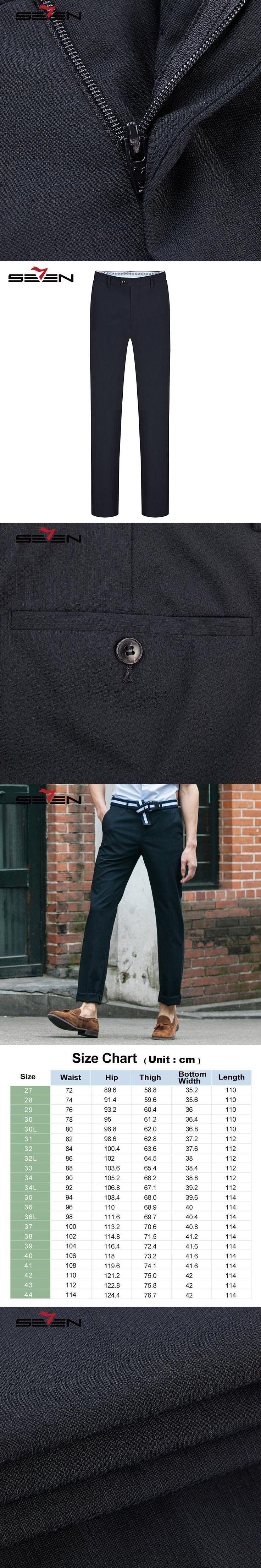 Seven7 Brand Men Formal Suit Pants Wool Blended Exquisite Long Pants Regular Fit Business Front Flat Dress Trousers 112B70060