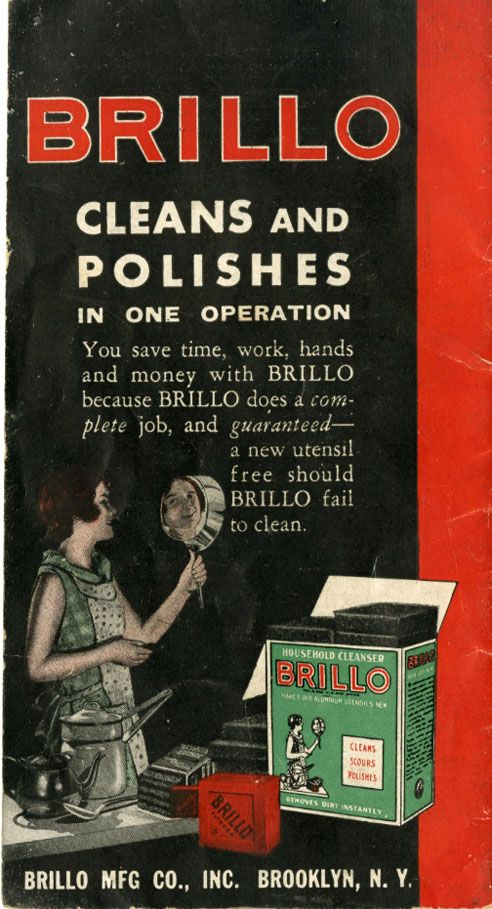Brillo ad from the Great Depression