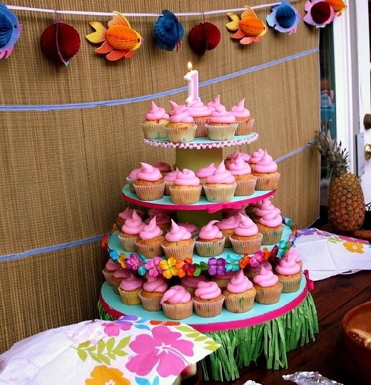 Cupcake Stand Ideas Luau Theme Cupcake Stand By
