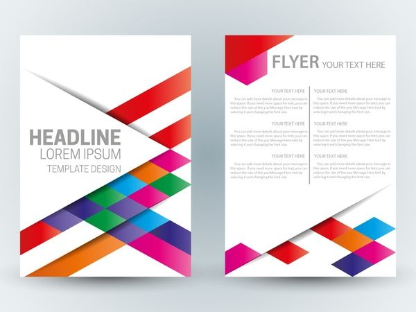Flyer Template Design With Abstract Colorful Bright Background Free Business Flyer Templates Flyer Template Free Flyer Templates