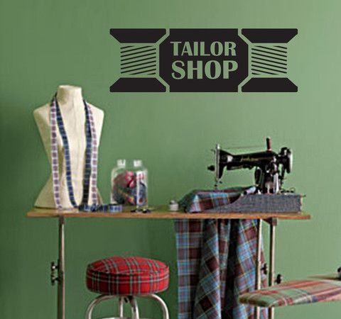 Tailor Shop - Spools Wall Decal