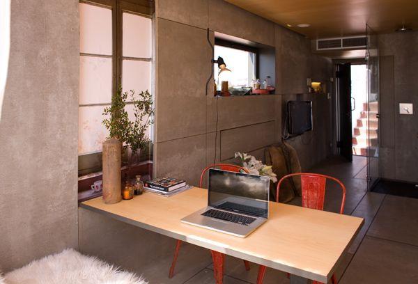 Идеи для ремонта маленькой квартиры 22 кв м - пентхаус в Барселоне.