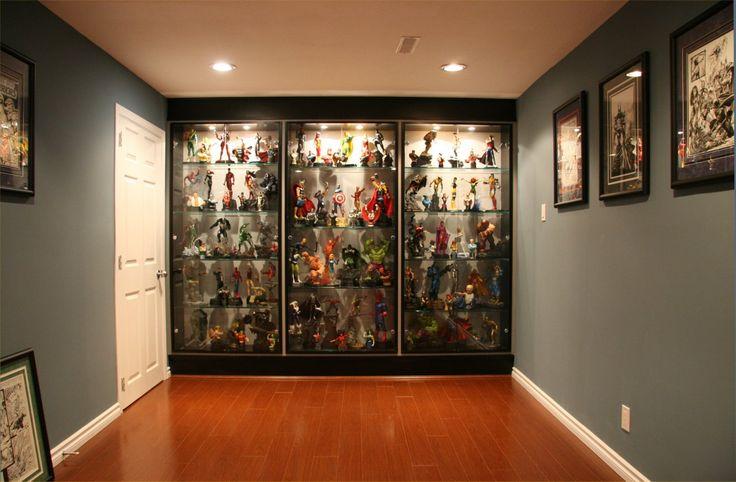 comic book statue custom cabinets google search shelf. Black Bedroom Furniture Sets. Home Design Ideas