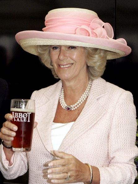 Camilla, Duchess of Cornwall, 2005 drinking. - ALWAYS DRINKING