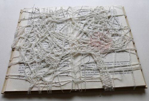 stopping a story, altered book by Ines Seidel