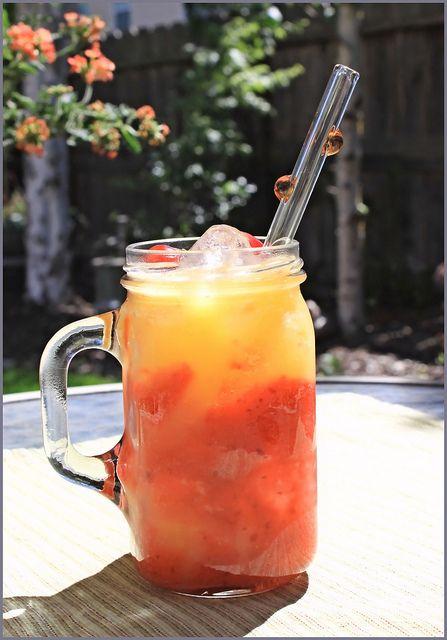 Solar Eclipse Fruit Cocktail