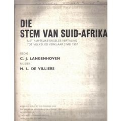 SOUTH AFRICAN HISTORY!! THE AFRIKAANS SHEET MUSIC OF DIE STEM. C.J.LANGENHOVEN. COLLECTABLE. for R1,500.00