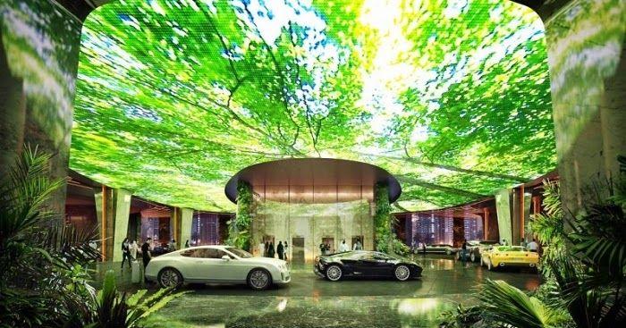 «Πράσινα» ξενοδοχεία με τεχνητά τροπικά δάση και παραλίες