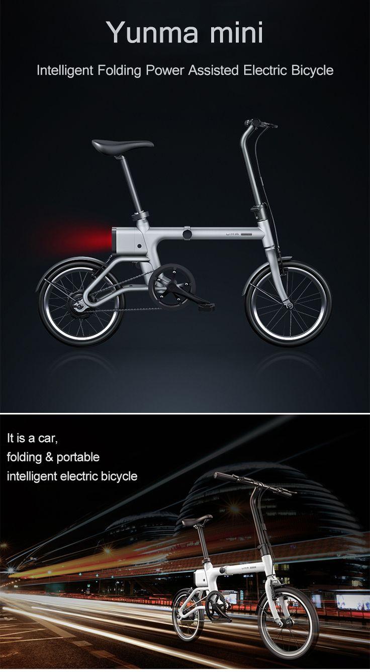 Yunma potere pieghevole intelligente assistito 14.9kg bicicletta elettrica bicicletta elettrica leggera da 16 \120w 36v mini bici / 2.6ah batterie agli ioni di litio