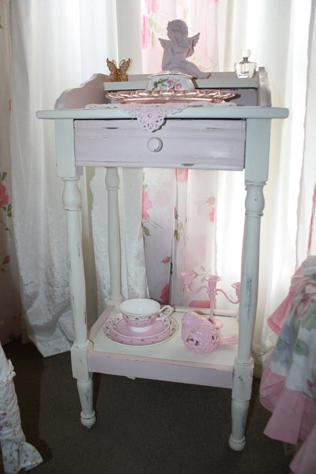 """A little project yesterday, as you can see I love """"Old White"""" and """"Antoinette"""""""