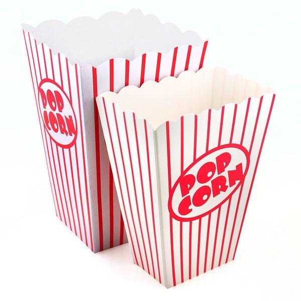 Retro Popcorn Boxes in 2 Sizes