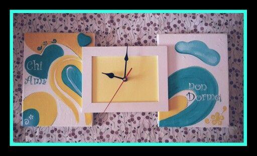 Tic tac...è tempo di novità! Orologi e portafoto con tele dipinte a mano personalizzabili, diverse misure! #art #illustration #follow #idearegalo #fhotooftheday #instanart #instanartist #beautiful #time #homemade #home #artoftheday #nice #love #chiamanondorme #fattocolcuore #madewhitlove #cadeau
