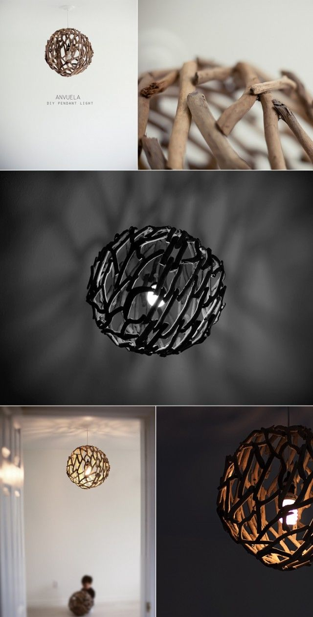 DIY pendant light//