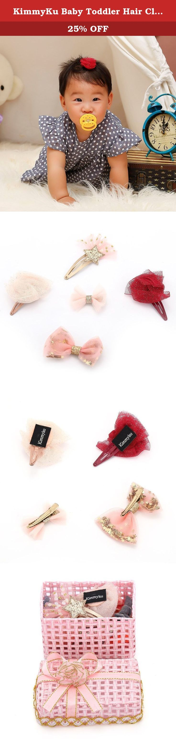 KimmyKu Baby Toddler Hair Clips Hair Bows Accessories Barrettes For Infant Baby girls. KimmyKu Non Slip Small Tiny Glitter Pretty Baby Childs Kids infants newborn Toddlers little Girls Boutique Barrettes Headpieces Accessories Simple and Neat Designs ,All of them are Pretty in Their Own Way they are perfect when you are styling your girls for photographer ,fun,princess birthday party,wedding occasion Excellent Quality Materials With NON Toxic Glue Quantity Per Order 14 pcs each set,but…