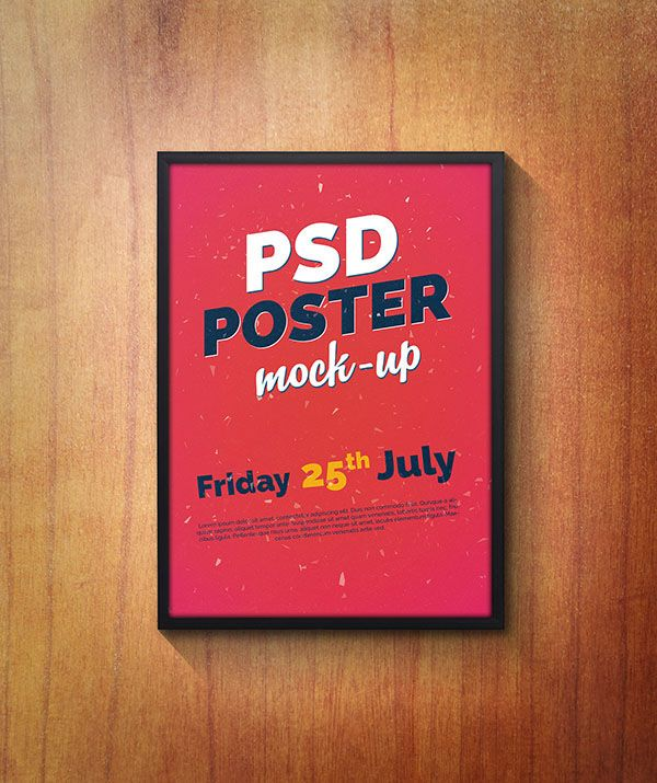 PSD Poster Mock-Up on Behance