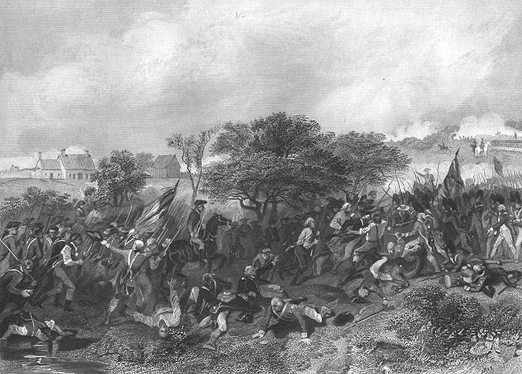 battles of new jersey | ... BATTLE OF MONMOUTH New Jersey ~ Old 1858 Art Print Engraving