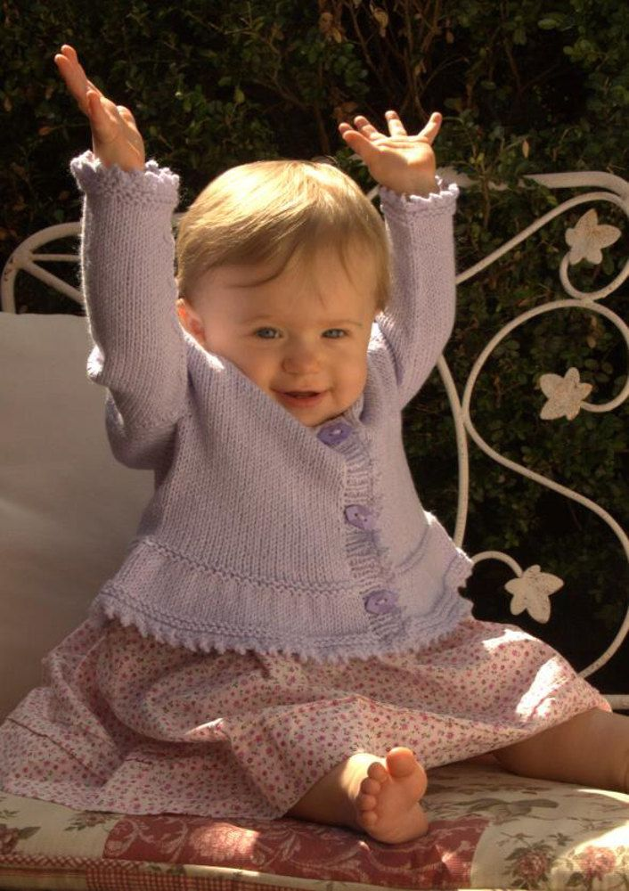 FREE Baby Cardigan Pattern. Available to download at LoveKnitting.com!