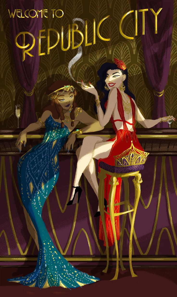20s style Legend of Korra. Though, I doubt Korra could have pulled off being a flapper girl.