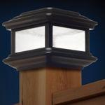 Classy Caps – Ensemble de 4 lampes-capuchons solaires de style colonial pour poteau de clôture