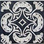 Black/White Mosaic - Heart of Herat - Mediterranean - Mosaic Tile - by MozaicoArt