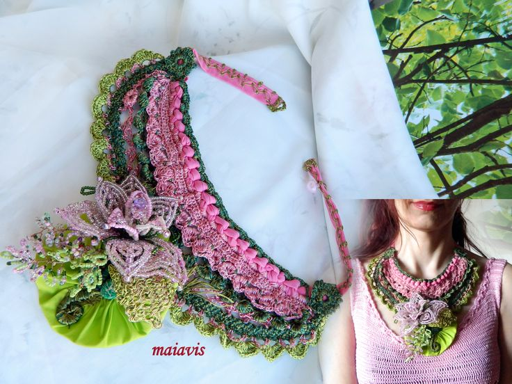 Crochet necklace jewelry feminin spring