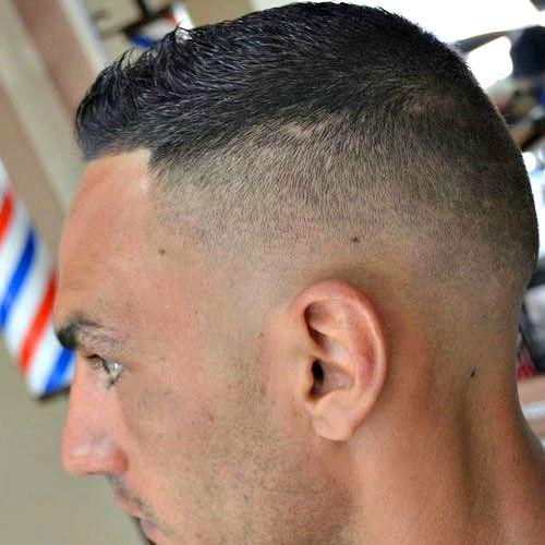 Marines Haircut - Fade with Short Top