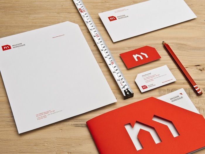logo, Letter head, envelope, booklet, pencil... etc... Maison Nordique
