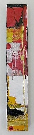 Art/Konst. Acrylic on canvas/Akryl på duk. 60 x 10 cm. By Camilla Nilsson, Camilla Nilsson Design.