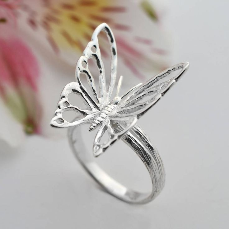 sterling silver butterfly ring by martha jackson sterling silver | notonthehighstreet.com