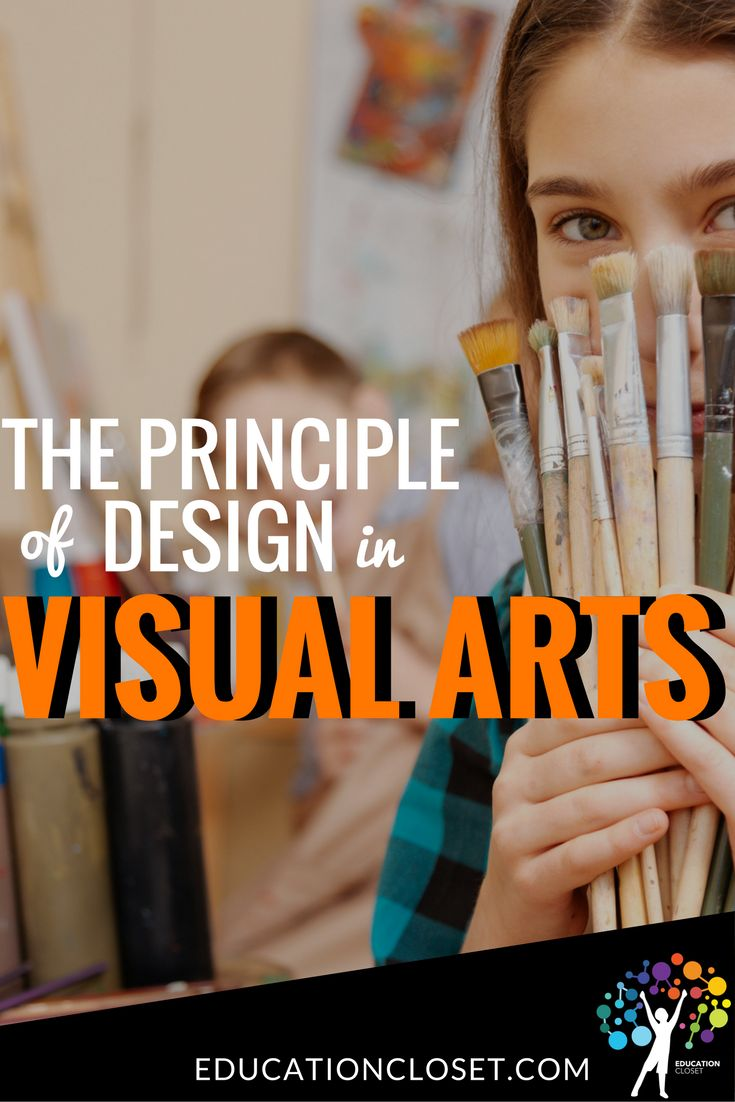 Principles of Design is a concept describing the way in which the elements are arranged - things like balance, movement, and unity. | educationcloset.com