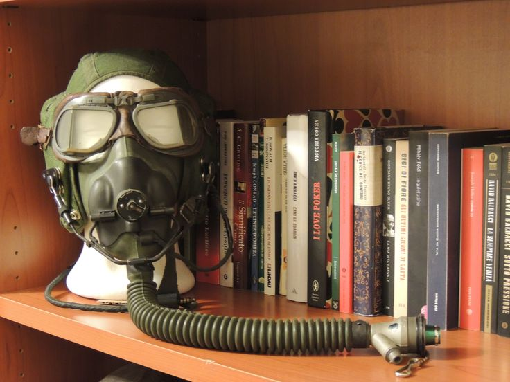 RAF G type helmet (50's), A/13A oxygen mask(50's), Mark VIII goggles ('40's) - Private collection