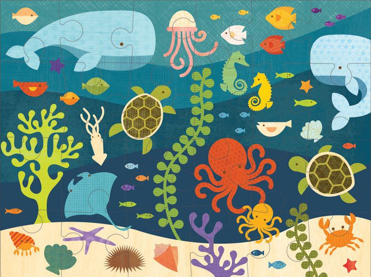 Petit Collage- Floor Puzzle- Ocean #limetreekids