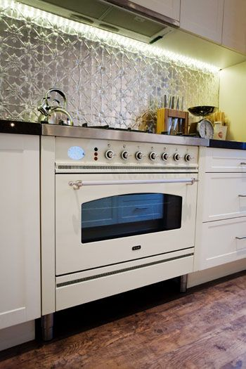 Pressed Metal Splashback on the block.... I fell in love with pressed metal after Sophie & Dale popped it out