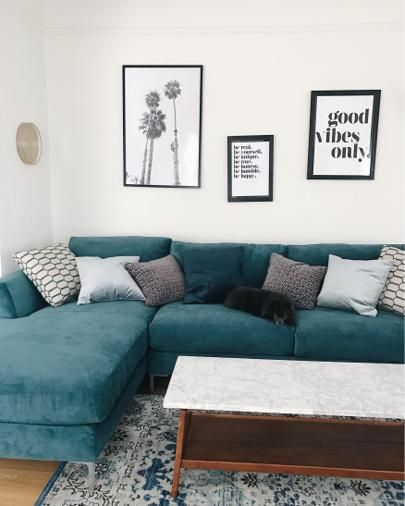 + living room // shades of blue and grey