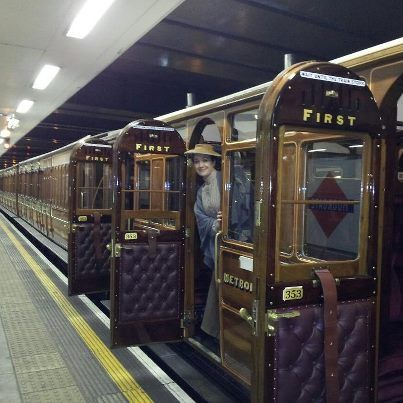 Passengers arrive at Moorgate Tube station, during the 150th anniversary of the London Underground, January 2013.