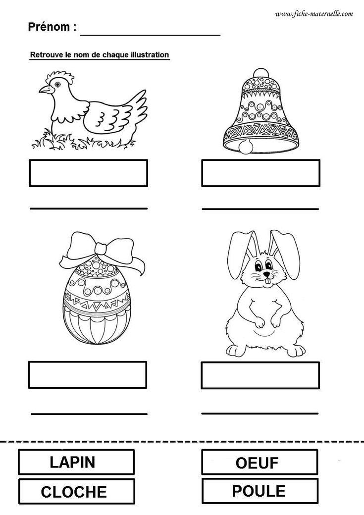 Pâques en maternelle : fiche de lecture Pâques en gs et ms