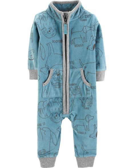 ee78b6a4b81b Baby Boy Dog Zip-Up Fleece Jumpsuit from Carters.com. Shop clothing    accessories from a trusted name in kids