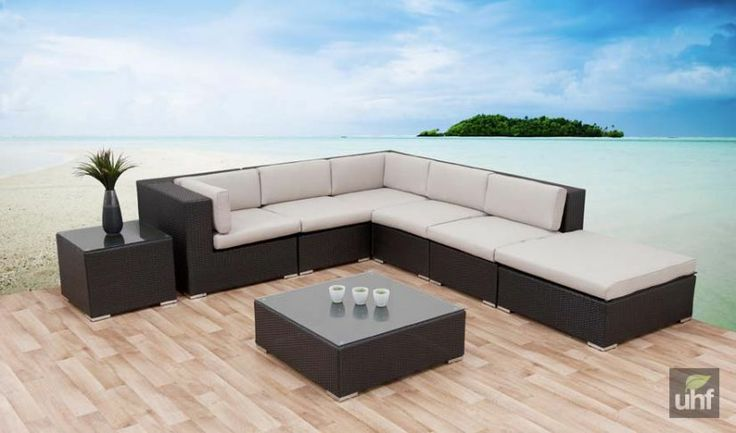 High Quality 6pce Koby Wicker Setting Black/Charcoal Wash   For The Home   Pinterest    Balconies, Backyard And Patios