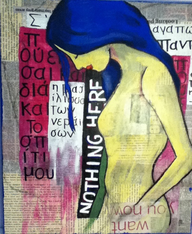 Nothing Here #2  Acrylic and Collage On Canvas