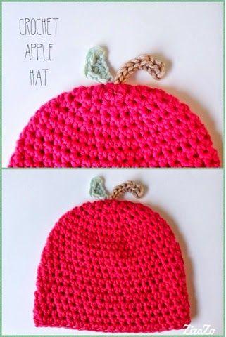 ZizaZo: Gehaakt appel mutsje / Crochet babybeanie