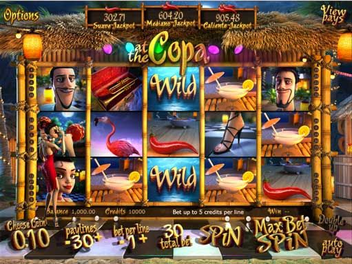 #At the #Copa slot machine has terrific cinematic graphics and a dancing theme that takes the gaming to another level. The slot basically has 5 reels and 30 paylines. Special features include free spins, bonus rounds and progressive jackpots. It enables the detailing and incorporation of the dancing in an impressive manner.