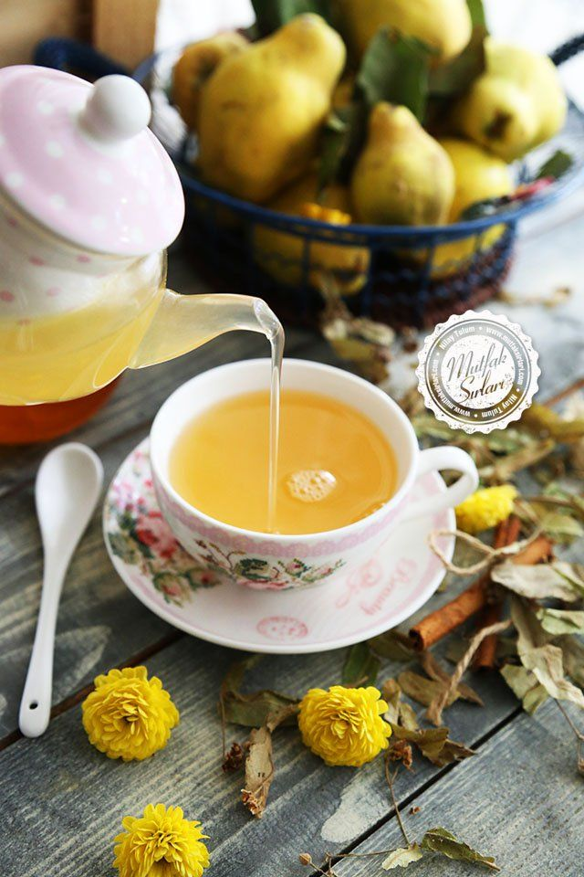 Ayvalı Ihlamur Çayı Tarifi #linden #quince #herbaltea