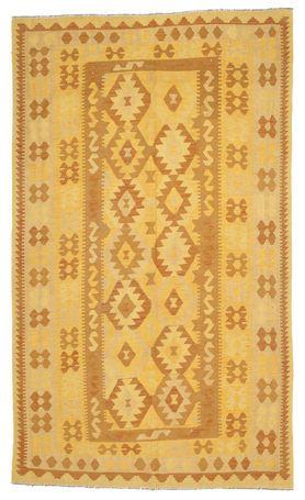 Afghaanse oude kelims zijn handgeweven door Turkmenians uit het noorden van Afghanistan. Het tapijt is gemaakt in een traditionele Kilim techniek met behulp van een natuurlijk kleurenschema met geometrische symbolen en achthoeken.