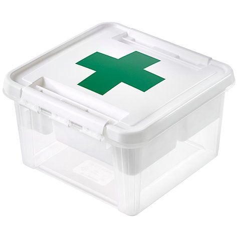 Buy Orthex SmartStore Deco 12 Plastic First Aid Box Online at johnlewis.com