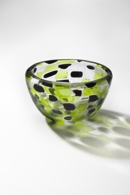 Bowl by Kaj Franck, 1960s.  I love the way the square shapes remain this blown piece, as well as the dramatic shadows it casts. #glass #blown