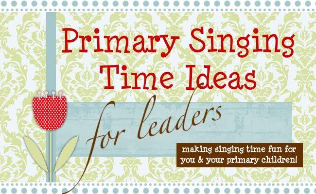 LDS Primary Chorister Ideas