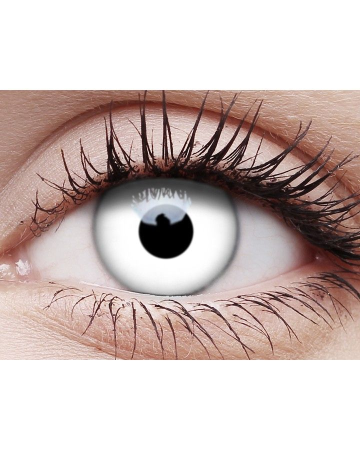 White Out Contact Lenses with Case