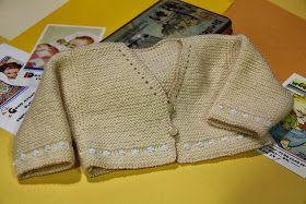 Chaquetita básica para bebé  Chaqueta básica para el bebé, fácil de hacer,muy ponible y con muchas posibi...